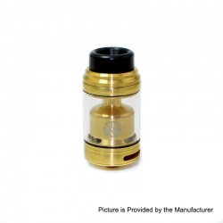 Authentic Asmodus Zesthia RTA Rebuildable Tank Atomizer - Gold, Stainless Steel, 4.5ml, 24mm Diameter