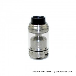 Authentic Asmodus Zesthia RTA Rebuildable Tank Atomizer - Silver, Stainless Steel, 4.5ml, 24mm Diameter