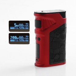 Authentic Uwell Ironfist 200W TC VW Variable Wattage Box Mod - Red, Zinc Alloy + Leather, 5~200W, 2 x 18650