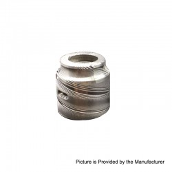 Vapeasy Replacement Top Cap B for Battle Style RDA - Silver, Damascus Steel