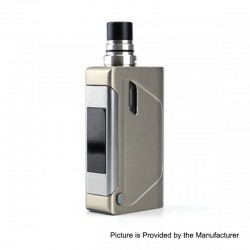 Authentic Limitless Marquee 80W 1800mAh Box Mod + Tank Kit - Silver, 0.6 Ohm, 2ml