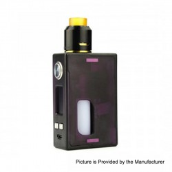 Authentic Nikola Niagara PEI 100W VW Variable Wattage Squonk Box Mod + RDA Kit - Purple, 7~100W, 1 x 18650 / 20700 / 21700, 6ml