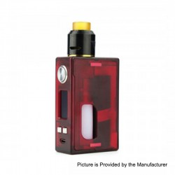 Authentic Nikola Niagara PEI 100W VW Variable Wattage Squonk Box Mod + RDA Kit - Red, 7~100W, 1 x 18650 / 20700 / 21700, 6ml