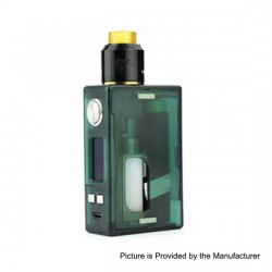 Authentic Nikola Niagara PEI 100W VW Variable Wattage Squonk Box Mod + RDA Kit - Green, 7~100W, 1 x 18650 / 20700 / 21700, 6ml