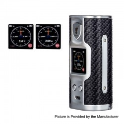 Authentic Soomook Hato K-One 238W TC VW Variable Wattage Box Mod - Silver, Zinc Alloy, 5~238W, 2 x 18650