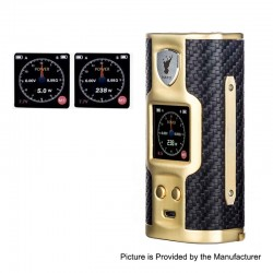Authentic Soomook Hato K-One 238W TC VW Variable Wattage Box Mod - Gold, Zinc Alloy, 5~238W, 2 x 18650