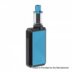 Authentic Joyetech Batpack Box Mod + Joye ECO D16 Tank Kit - Black + Blue, 2 x AA Batteries, 0.5 Ohm, 2ml