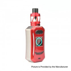 Authentic Pioneer4You IPV Trantor TC VW Variable Wattage Box Mod + LXV4 Tank Kit - Champagne + Red, 5~200W, 2 x 18650, 2ml