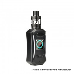 Authentic Pioneer4You IPV Trantor TC VW Variable Wattage Box Mod + LXV4 Tank Kit - Black, 5~200W, 2 x 18650, 2ml
