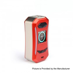 Authentic Pioneer4You IPV Trantor TC VW Variable Wattage Box Mod - Champagne + Red, 5~200W, 2 x 18650