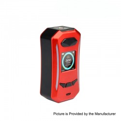 Authentic Pioneer4You IPV Trantor TC VW Variable Wattage Box Mod - Black + Red, 5~200W, 2 x 18650