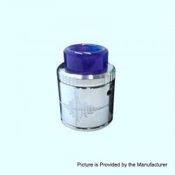 Authentic Mecanvape Voiceprint RDA Rebuildable Dripping Atomizer w/ BF Pin - Silver, Stainless Steel, 24mm Diameter