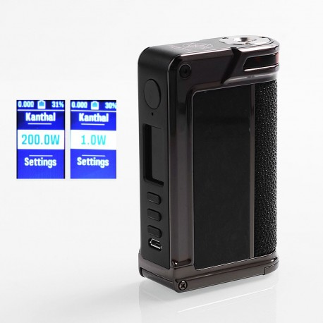 Authentic Lost Vape Paranormal DNA250C 200W TC VW Box Mod - Gun Metal + Chopped Carbon Fiber + Pearl Fish, 1~200W, 2 x 18650