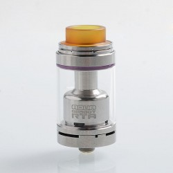 Authentic Footoon Aqua Reboot RTA Rebuildable Tank Atomizer - Silver, Stainless Steel, 4.3ml, 24mm Diameter