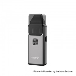 Authentic Aspire Breeze 2 1000mAh All-in-One Starter Kit - Grey, 0.6 Ohm / 1 Ohm, 2ml