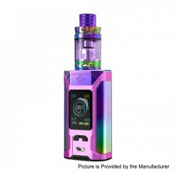 Authentic Wismec SINUOUS RAVAGE230 230W TC VW Box Mod + GNOME King Tank Kit - Gloss Purple, 1~230W, 2 x 18650, 5.8ml