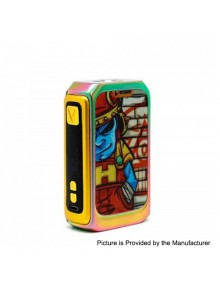 Authentic Vzone Graffiti 220W TC VW Variable Wattage Box Mod - Rainbow, 7~220W, 2 x 18650