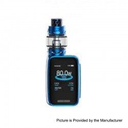 Authentic SMOKTech SMOK X-Priv Baby 80W 2300mAh TC VW Box Mod + TFV12 Big Baby Prince Tank Kit - Prism Blue, 1~80W, 6ml