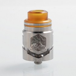 Authentic Cool Vapor Cavalry RDTA Rebuildable Dripping Tank Atomizer w/ BF Pin - Silver, Stainless Steel, 3ml, 24.5mm Diameter