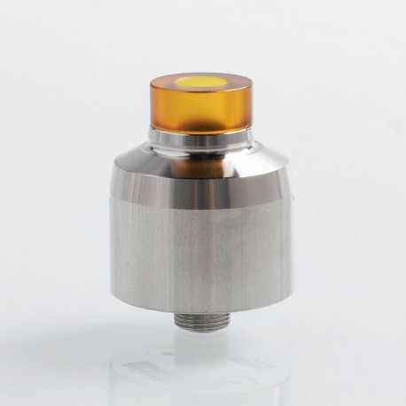 SXK Krma Style RDA Rebuildable Dripping Atomizer w/ BF Pin - Silver, 316 Stainless Steel, 22mm Diameter