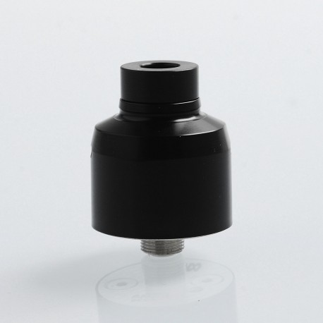 SXK Krma Style RDA Rebuildable Dripping Atomizer w/ BF Pin - Black, POM + 316 Stainless Steel, 22mm Diameter