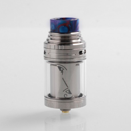 Authentic Vapefly Horus RTA Rebuildable Tank Atomizer - Silver, Stainless Steel, 4ml, 25mm Diameter