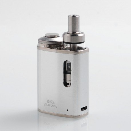Authentic Eleaf iStick Pico Baby 25W 1050mAh Mod + GS Baby Tank Kit - Silver, Stainless Steel, 2ml