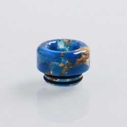 810 Replacement Drip Tip for TFV8 / TFV12 Tank / 528 Goon / Kennedy / Reload / Battle RDA - Blue, Resin, 12mm