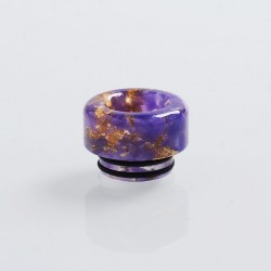 810 Replacement Drip Tip for TFV8 / TFV12 Tank / 528 Goon / Kennedy / Reload / Battle RDA - Purple, Resin, 12mm