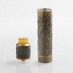 Authentic Shield Cig Redemption Hybrid Mechanical Mod + RDA Kit - Brass, Brass, 1 x 18650, 24mm Diameter