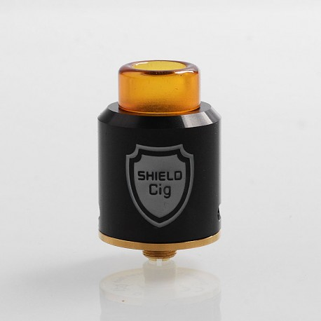Authentic Shield Cig Luxembourg RDA Rebuildable Dripping Atomizer - Black, Stainless Steel, 24mm Diameter