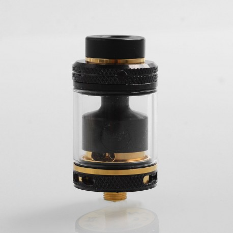 Authentic CoilART MAGE RTA V2 Rebuildable Tank Atomizer - Black + Gold, Stainless Steel, 3.5ml, 24mm Diameter