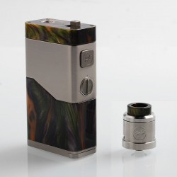 Authentic Wismec Luxotic NC 250W Box Mod + Guillotine V2 RDA Kit - Green Resin, 2 x 18650 / 20700