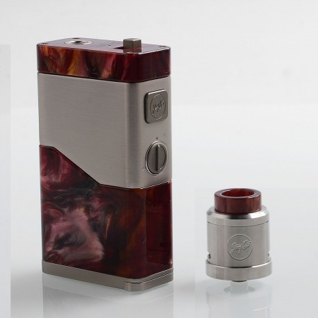Authentic Wismec Luxotic NC 250W Box Mod + Guillotine V2 RDA Kit - Red Resin, 2 x 18650 / 20700
