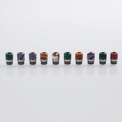 510 Replacement Drip Tip for RDA / RTA / Sub Ohm Tank Atomizer - Random Color, Resin + Stainless Steel, 15mm