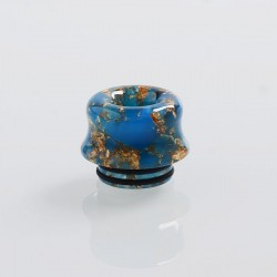 810 Replacement Drip Tip for TFV8 / TFV12 Tank / 528 Goon / Kennedy / Reload RDA - Blue, Resin, 14mm