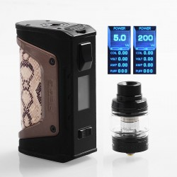 Authentic GeekVape Aegis Legend Mod 200W TC VW Box Mod + Aero Mesh Version Tank Kit - Snake Skin, 5~200W, 2 x 18650, 5ml