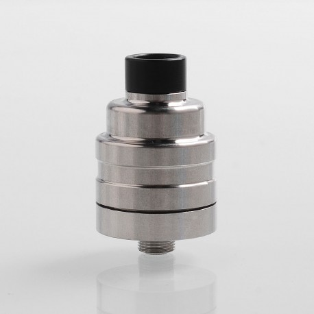 Duetto Reborn Style RDA Rebuildable Dripping Atomizer w/ BF Pin - Silver, Stainless Steel, 22mm Diameter