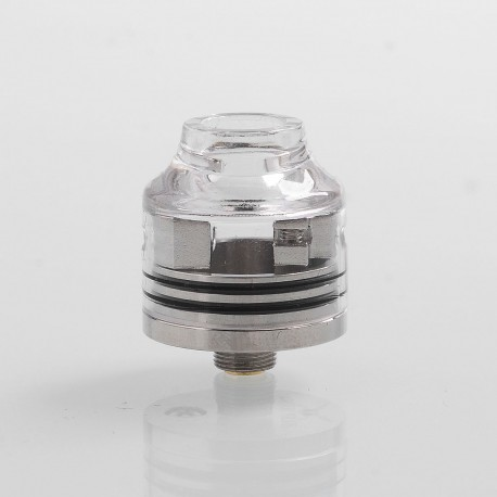 Authentic Oumier Wasp Nano Mini RDA Rebuildable Dripping Atomizer w/ BF Pin - Transparent + Silver, PC + SS, 22mm Diameter