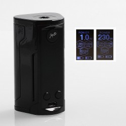 Authentic Wismec Reuleaux RX GEN3 Dual 230W TC VW Variable Wattage Box Mod- Gloss Black, 1~230W, 2 x 18650