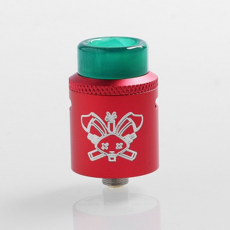 Authentic Hellvape Dead Rabbit SQ RDA Rebuildable Dripping Atomizer w/ BF Pin - Red, Aluminum + Stainless Steel, 22mm Dia.