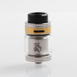 Authentic KAEES Solomon 2 RTA Rebuildable Tank Atomizer - Silver, Stainless Steel, 5ml, 24mm Diameter