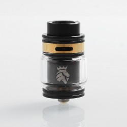 Authentic KAEES Solomon 2 RTA Rebuildable Tank Atomizer - Black, Stainless Steel, 5ml, 24mm Diameter