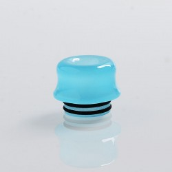 810 Replacement Drip Tip for TFV8 / TFV12 Tank / 528 Goon / Kennedy / Reload RDA - Blue, Resin, 14mm, Glow-in-the-Dark