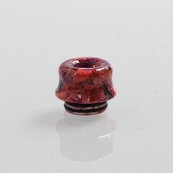 810 Replacement Drip Tip for TFV8 / TFV12 Tank / 528 Goon / Kennedy / Reload RDA - Red, Resin + Stabilized Wood, 14mm