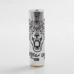 Rogue Wolf Style Hybrid Mechanical Mod - Silver, Aluminum, 1 x 18650