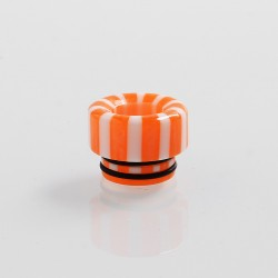 810 Replacement Drip Tip for TFV8 / TFV12 Tank / 528 Goon / Kennedy / Reload RDA - Orange + White, Resin, 12mm