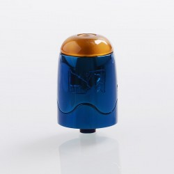 Authentic Serisvape Bomb UFO V1.5 RDTA Rebuildable Dripping Tank Atomizer - Blue, Stainless Steel, 2ml, 25mm Diameter
