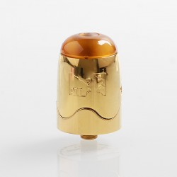 Authentic Serisvape Bomb UFO V1.5 RDTA Rebuildable Dripping Tank Atomizer - Gold, Stainless Steel, 2ml, 25mm Diameter