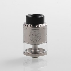 Authentic Asmodus Nefarius TF / BF RDTA Rebuildable Dripping Tank Atomizer w/ BF Pin - Silver, Stainless Steel, 4ml, 25mm Dia.